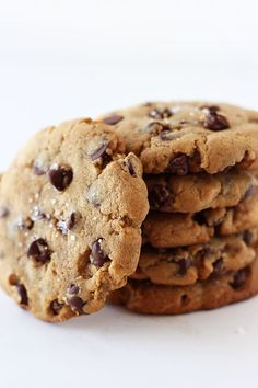 Peanut Butter Chocolate Chip Cookies from handletheheat.com