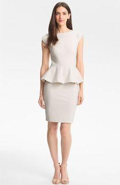 Ted Baker London Peplum Sheath Dress available at Dope Fashion, Grey Fashion, Fashion Outfits, Gala Dresses, Casual Dresses, Short Dresses, Sheath Dress, Peplum Dress, Kinds Of Clothes