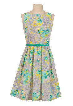 Belted Floral Tank Dress available at #Maurices