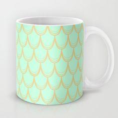 Mermaid  Mug by Aneela Rashid - $15.00