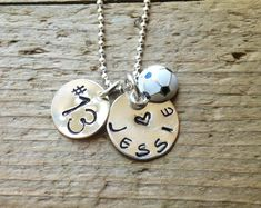 Soccer Mom Soccer Girl Custom Sports Necklace by tagsoup on Etsy