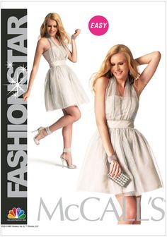 Misses Dress McCalls Sewing Pattern No. 6836. Size 6-14.