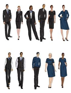 United Airlines flight attendant uniforms