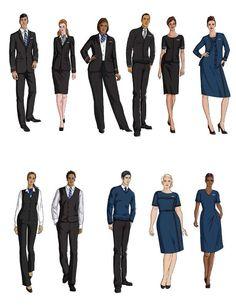 United Airlines flight attendant uniforms