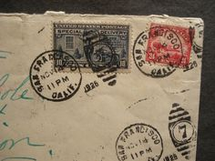 #C6 AIR MAIL SPECIAL DELIVERY Postal History Cover 1926 SAN FRANCISCO, CALIF