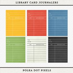 My Life 365  Library Card Project Journaling by PolkaDotPixels, $2.00