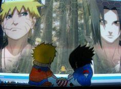 Awww thats so cute Naruto Mignon, Paper Child, Kakashi, Webtoon, Kawaii Anime, Chibi, Children, Drawings, Cute