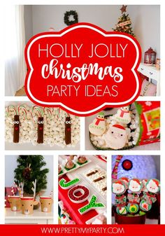 So many cute details in this Holly Jolly Christmas Party - Pretty My Party www.prettymyparty.com