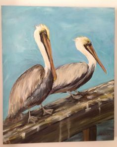 Hey, I found this really awesome Etsy listing at http://www.etsy.com/listing/175252527/pelicans-coastal-art-20-x-24-acrylic
