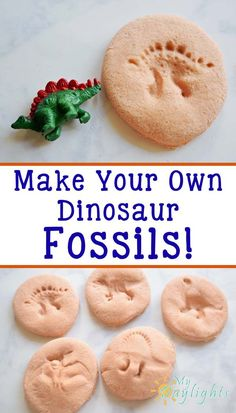 Make Your Own Homemade Dinosaur Fossils-Great for a birthday party activity or for a fun kids craft in school, preschool, or at home.