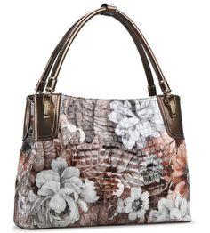 bf017f11369 Floral Purse Brown Luxury Purse for Luxury Woman Genuine Crocs Sk   Rudelyn s  Sari Sari Store