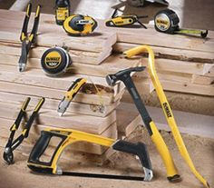 If you're a fan of the DeWALT brand of power tools, we've got big news for you. DeWALT hand tools are now available and they haven't just released a tape Woodworking Power Tools, Carpentry Tools, Woodworking Projects That Sell, Woodworking Jobs, Diy Tools, Hand Tools, Garage Atelier, Dewalt Power Tools, Stanley Tools