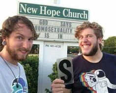 God says homosexuality is in ;) - Imgur
