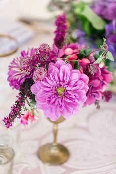 Berry toned wedding flowers: http://www.stylemepretty.com/2014/11/21/bright-magenta-vineyard-wedding/ | Photography: We Heart Photography - http://www.weheartphotography.com/