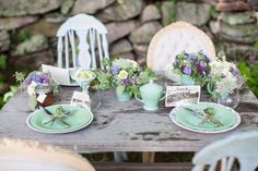Eco-Friendly Lavender and Mint Wedding Inspiration