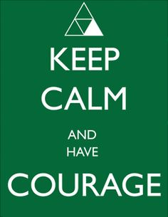 Geeking out right now! Triforce of Courage