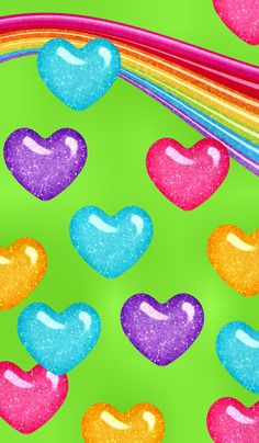 Rainbow colorful hearts wallpaper *hearts and roses wallpape Heart Wallpaper, Cute Wallpaper Backgrounds, Pretty Wallpapers, Cellphone Wallpaper, Iphone Wallpaper, Rainbow Heart, Rainbow Unicorn, Hearts And Roses, Heart Background