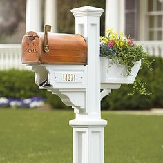 Post, Mailbox, Flower Box and Newspaper Holder