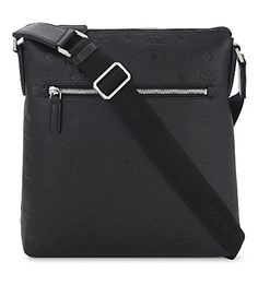MCM Otto Small Leather Messenger Bag. #mcm #bags #shoulder bags #leather #