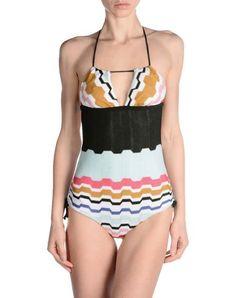 ¡Cómpralo ya!. MISSONI MARE Bañador mujer. tejido en punto, tejido sintético, cierre con lazos, estampado del diseñador , cierre con corchetes, interior forrado , bañador, bañadores, swimsuit, monokini, maillot, onepiece, one-piece, bathingsuit. Bañador  de mujer color negro de MISSONI MARE.