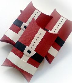Santa Suit Christmas Pillow Treat Boxes