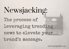 Causejacking is leveraging trending CAUSE news to elevate your brand's message.