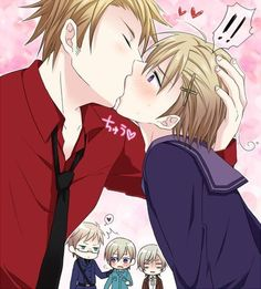 Hetalia (ヘタリア) - Denmark x Norway (DenNor) (≧∇≦)♥️