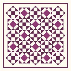 Want to try a two-block quilt? Make the Mulberry Pie quilt featuring the Shoo Fly block and the Gentlemen's Fancy block. Vintage Quilts Patterns, Quilt Patterns Free, Pattern Blocks, Crochet Patterns, Quilting Tutorials, Quilting Projects, Sewing Projects, Quilting Tips, Sewing Ideas