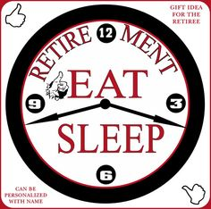 Senior Retirement Wall Decor Clock Gift Idea Can Be Personalized With A Name. Your Choice Of Three Styles.Simply Southern Gift.
