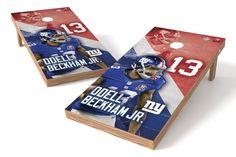 Odell Beckham Jr. NFL Cornhole Board Set (New York Giants) (w/Bluetooth Speakers)