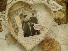 Altered Candy Box Vintage style~great idea for a Silver or Golden Anniversary