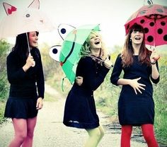 Image about girl in Photography by Natasha on We Heart It Cool Umbrellas, Best Friend Pictures, Friend Photos, Bff Pictures, Senior Pictures, We Heart It, Three Best Friends, Happy Friends, Feelings