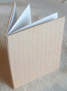 Secret Fold Notebook Tutorial. These little books have a hardcover, and the textblock is made with one piece of paper. Very clever!