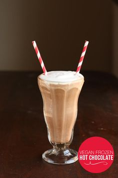 A quick and easy recipe for Vegan Frozen Hot Chocolate