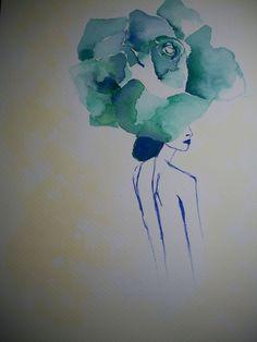 Flower. Watercolour
