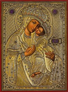 """the wonderworking Icon of the Theotokos """" Surety of Sinners """" Koretska (1622) from Holy Trinity Orthodox Women's Monastery in the town of Koretz Rivne region of Ukraine"""