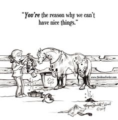 We love Morgane Schmidt's weekly horse humor cartoons! This week is no exception. I'm DYING.