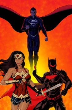 Just toying with a concept cover featuring the New 52 versions of Wonder Woman, Superman and Batman if they were to return. Gave Batman his Hellbat armor with a few tweaks. Also gave WW and Supes redesigns. Dc Comics Superheroes, Dc Comics Art, Anime Comics, Superman, Batman, Dragon Ball Z, Marvel Dc, Marvel Comics, Dc Trinity