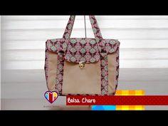 Bolsa de tecido Charo - Cursos e vendas de bolsas de tecido é no Maria A...