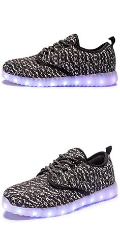 VENSHINE Mens Womens Light Up Shoes LED Luminous Glowing Flashing Sneakers