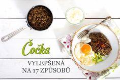 Čočka na kyselo –fantastický výsledek zaručen Lentils, Rum, Cereal, Food And Drink, Eggs, Tasty, Beef, Cooking, Breakfast