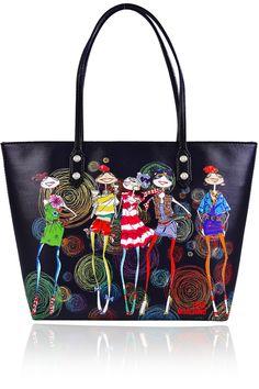 LOVE MOSCHINO / LOVE COCKTAILS Circle Black Bag