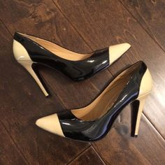 """Kelsi Dagger Black and Tan Pumps Super cute patton leather pumps. A few scuff marks that could easily be buffed out. 4"""" heel. Fits true to size. Kelsi Dagger Shoes Heels"""
