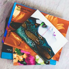 Matthew Williamson Inspiration Books in the Atelier from Harrods Inside The Studio Feature
