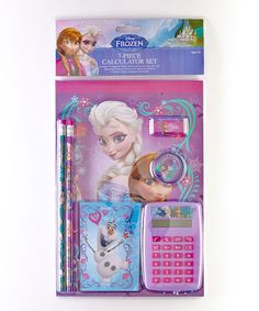 Look what I found on #zulily! Frozen Seven-Piece School Supply Set by Frozen #zulilyfinds