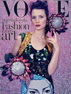 Abajo de la madriguera del conejo: Alice In Wonderland estrella Mia Wasikowska estrellas en una sesión de fotos para la revista Vogue Australia surrealista