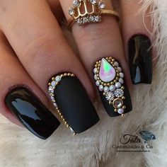 70 Trendy Cute Gel Nails With Diamonds Cute Gel Nails, Cute Acrylic Nails, Toe Nails, Rhinestone Nails, Bling Nails, Gorgeous Nails, Pretty Nails, Dark Pink Nails, Crazy Nail Art