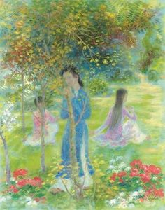 Flowers and Women in Painting by Le Pho French-Vietnamese Artist (1)