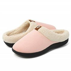 Nice Feather Unisex Adult Cotton House Slippers Keep Warm House Crocs Couples