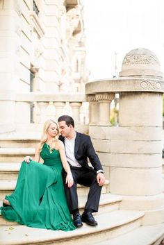 formal engagement shoot outfit in DC Elegant Engagement Photos, Engagement Photo Outfits, Engagement Couple, Engagement Pictures, Engagement Shoots, Wedding Engagement, Prom Photos, Wedding Photos, Couple Photography
